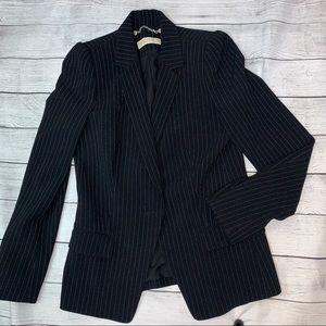Michael Michael Kors Black Striped Cropped Blazer